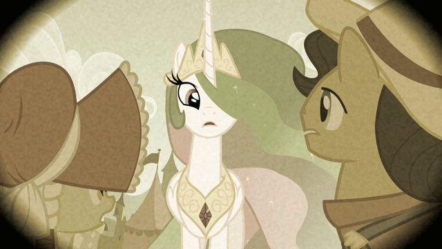 File:Princess Celestia looking at Granny Smith and her dad S2E12.png