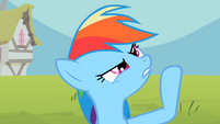 Rainbow Dash somehow S2E8