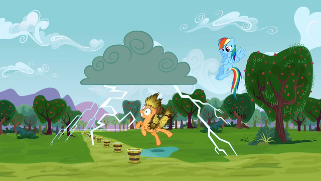 File:Applejack being struck by lightning 2 S3E8.png