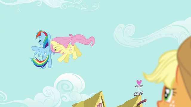 File:Fluttershy and Rainbow bump into each other in the air S6E11.png