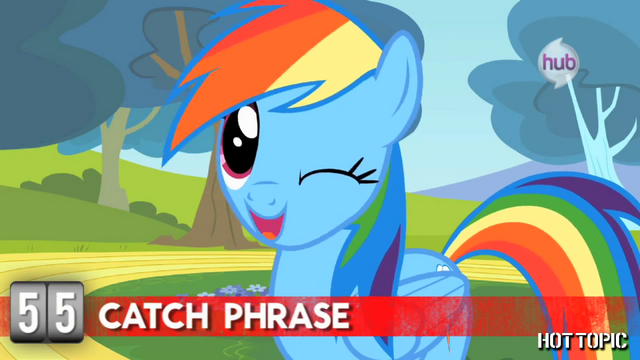 "File:Hot Minute with Rainbow Dash ""before I let that bad boy out"".png"
