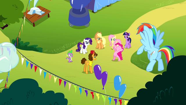 "File:Pinkie Pie ""headline the Rainbow Dash birth-iversary bash"" S4E12.png"