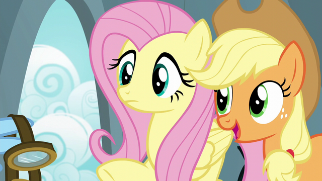 File:Applejack wishes Rainbow good luck S6E7.png