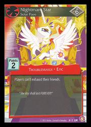 Nightmare Star, Solar Flare card MLP CCG