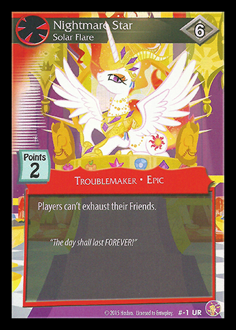 File:Nightmare Star, Solar Flare card MLP CCG.png