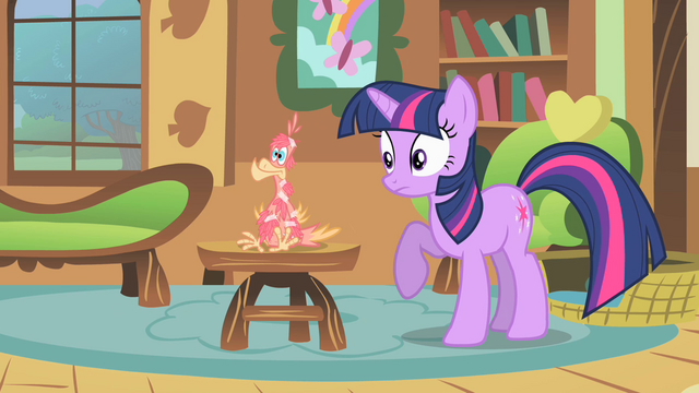 "File:Twilight ""what is Celestia's pet doing here?"" S01E22.png"