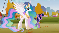 Celestia and Twilight looking on S1E13