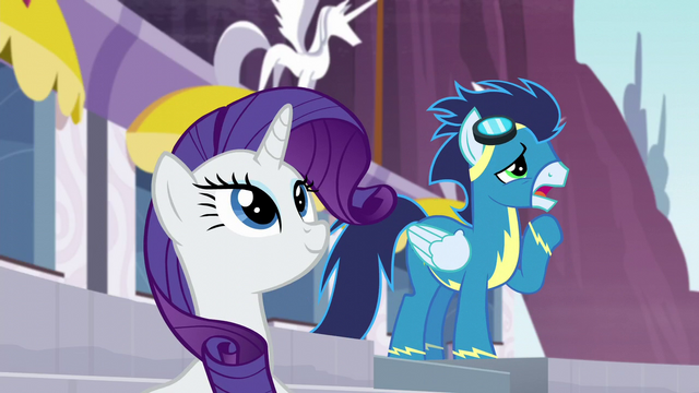 File:Soarin tries to call Rainbow Dash S5E15.png