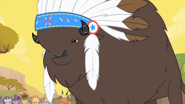 File:Thunderhooves announcing the time of the stampede S1E21.png