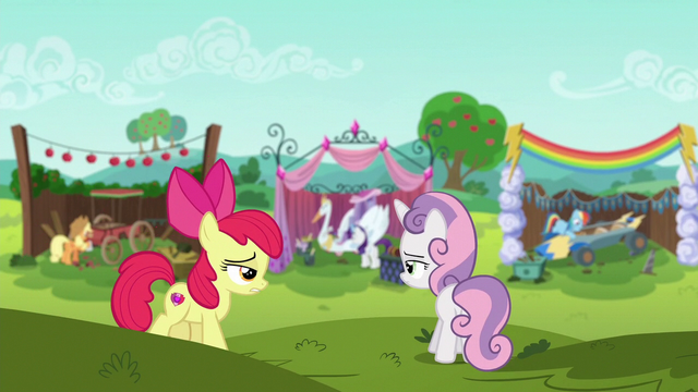 File:Apple Bloom and Sweetie Belle on a hill S6E14.png