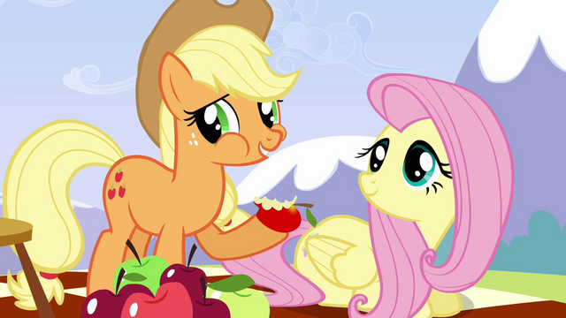 File:Applejack 'She is the best flyer in Ponyville' S3E7.png