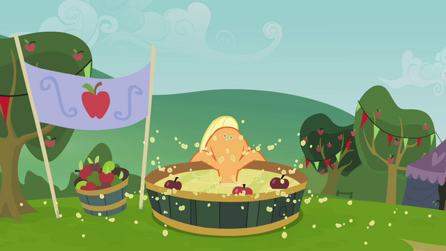 File:Applejack bobbing for apples S3E08.png