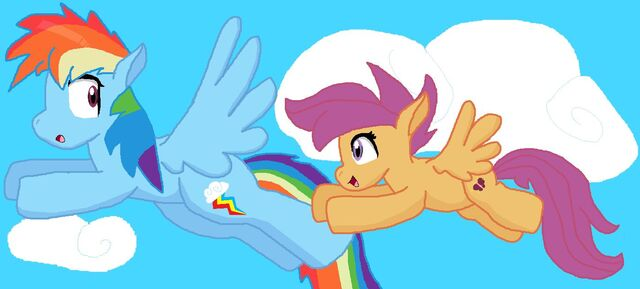 File:FANMADE Rainbow Dash and Scootaloo.jpg