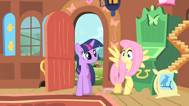File:Fluttershy worried as Twilight enters S01E22.png