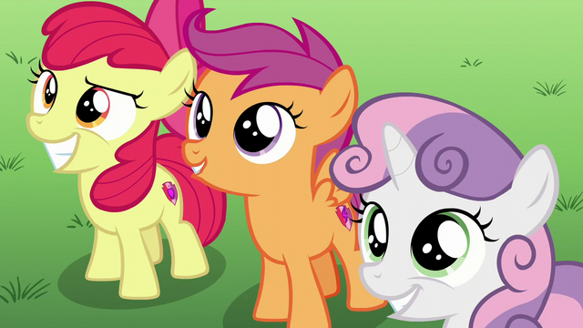 File:The Cutie Mark Crusaders smiling S6E4.png