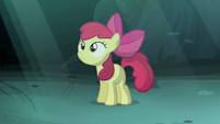 Apple Bloom standing in the moonlight S5E4