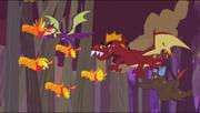 Dragons chasing baby phoenixes S2E21