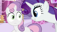 Rarity speaking to Sweetie Belle S2E23