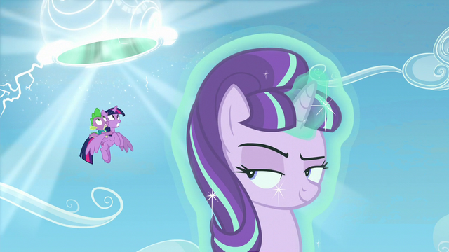 File:Starlight opens up portal for Twilight and Spike S5E26.png