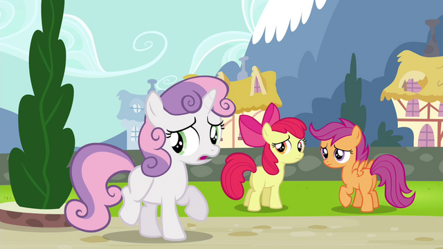 File:Sweetie Belle telling Diamond Tiara no S4E15.png