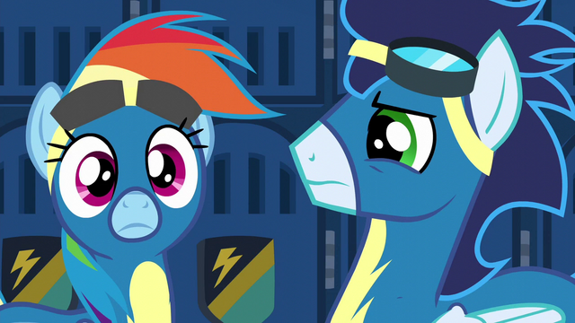 File:Rainbow Dash hears Spitfire's voice S6E7.png