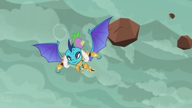 File:Spike and Ember swerve past boulders S6E5.png