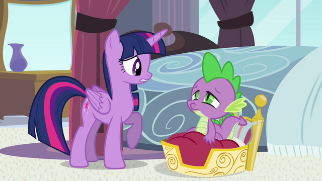 """File:Twilight and Spike """"middle of the night"""" S4E01.png"""