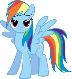 File:FANMADE Rainbow Dash lovely stare.png