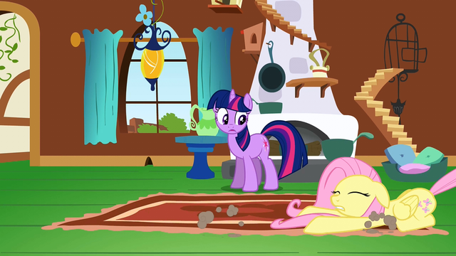 File:Fluttershy being dragged S2E21.png