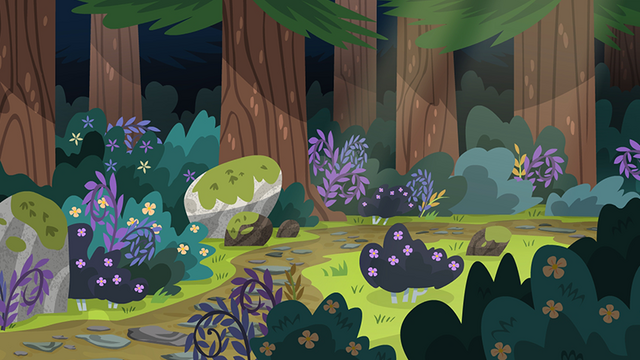 File:Legend of Everfree background asset - forest path.png