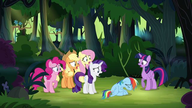File:Main ponies gasping S4E04.png