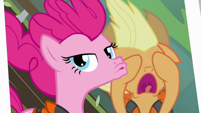 File:Pinkie Pie duckface photo with Applejack S4E09.png