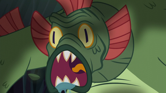 File:Swamp monster roars at the ponies S5E21.png