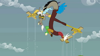 Discord playing with objects like marionettes S2E1