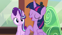 Twilight talking about Shining Armor and Cadance S6E1