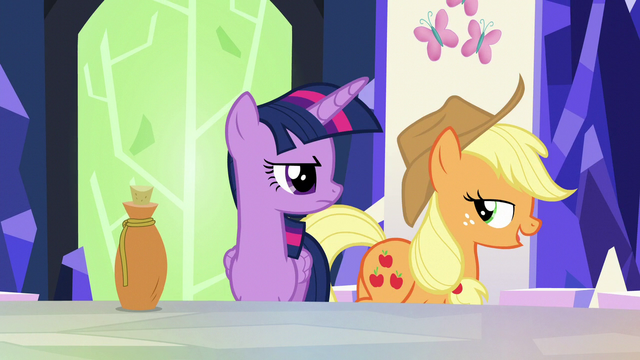 "File:Applejack ""so much for that whole spell theory"" S5E22.png"