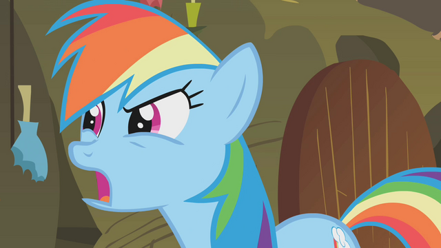 "File:Rainbow Dash ""what about the cauldron?"" S1E09.png"