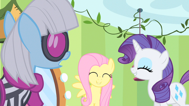 File:Rarity & Fluttershy happy S1E20.png