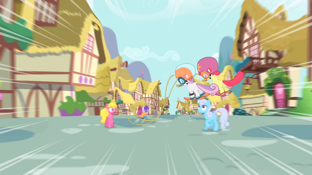 File:Scootaloo speeding through Ponyville S4E05.png