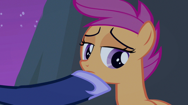 File:Scootaloo taking in wisdom S3E6.png