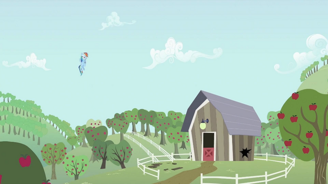 File:Rainbow Dash looking at barn S2E03.png