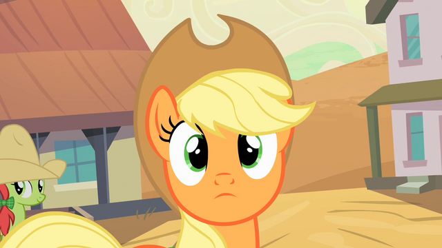 File:Applejack being spotted S2E14.png