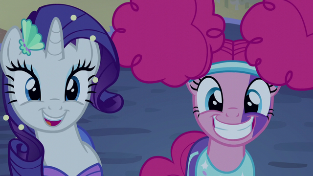 File:Rarity and Pinkie Pie grinning S5E21.png