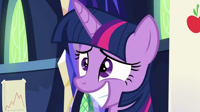 File:Twilight Sparkle smiling nervously S5E23.png