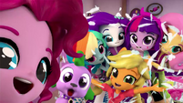 Equestria Girls and Spike take a selfie EGM4