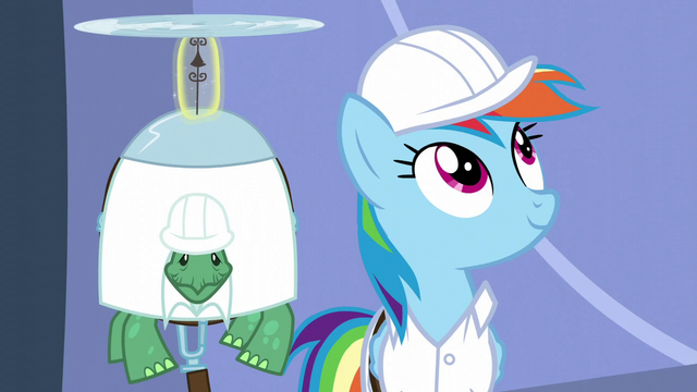 File:Rainbow looks at the lab S5E5.png