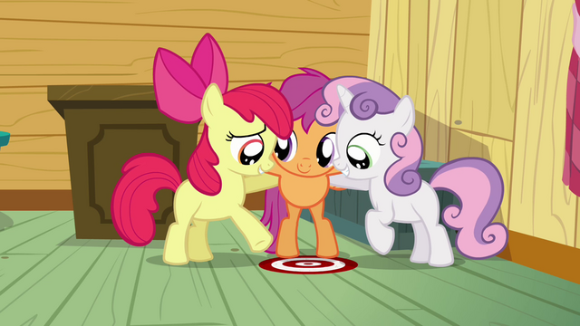 File:Apple Bloom points at the thinking spot S3E04.png