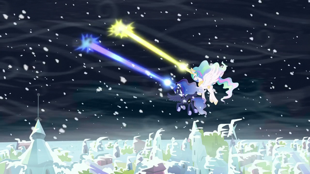 File:Celestia and Luna zapping storm clouds S6E2.png
