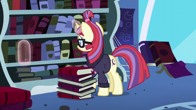 File:Moon Dancer places Principles of Magic back on the shelf S5E12.png