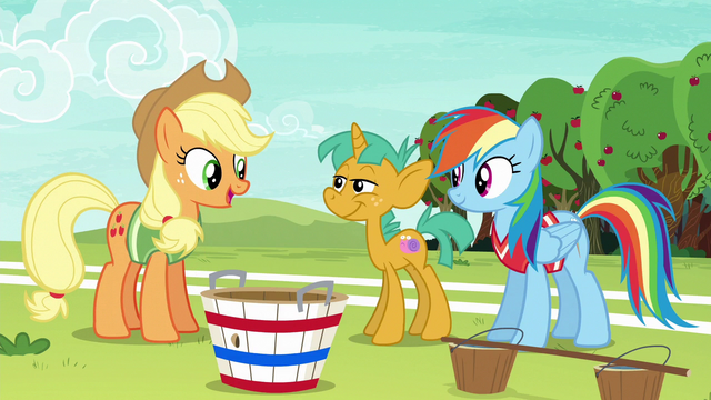 "File:Applejack ""clear who the other two players should be"" S6E18.png"